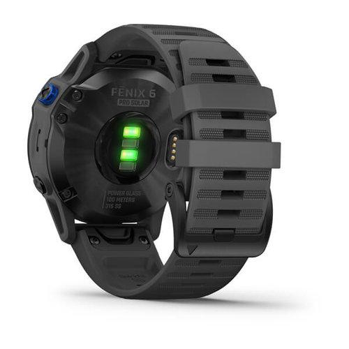 Garmin Garmin fenix 6 Solar 47mm Black, Wristband: Slate Grey