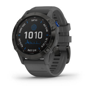 Garmin Garmin fenix 6 Solar 47mm Black, Wristband: Slate Grey