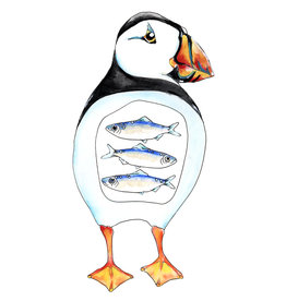 "Marissa Amor Marissa Amor ""Puffin and Herring"" art print"