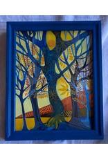 "Pia Reilly Pia Reilly ""Spring Time"" Framed Original Watercolor 8x10"