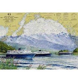 "Brenda Schwartz Brenda Schwartz ""Alaska Marine Highway"" art print"