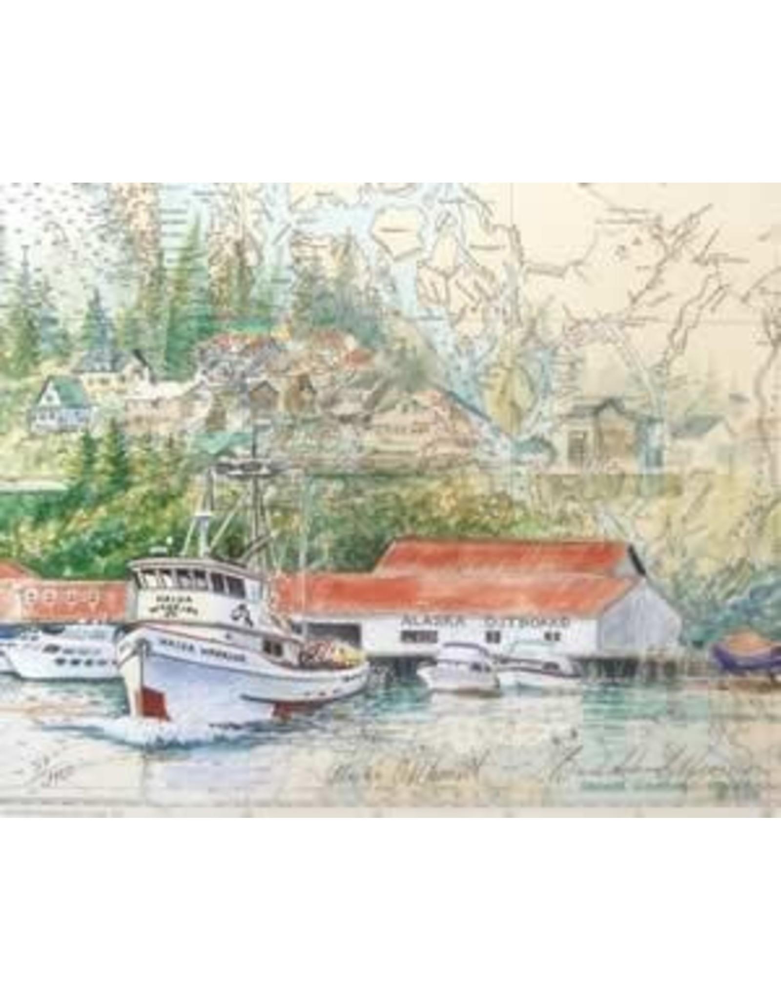 "Brenda Schwartz Brenda Schwartz-Yeager ""Alaska Outboard"" art print"