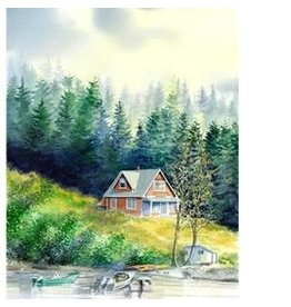 "Brenda Schwartz Brenda Schwartz-Yeager ""Boarderhouse"" art print"