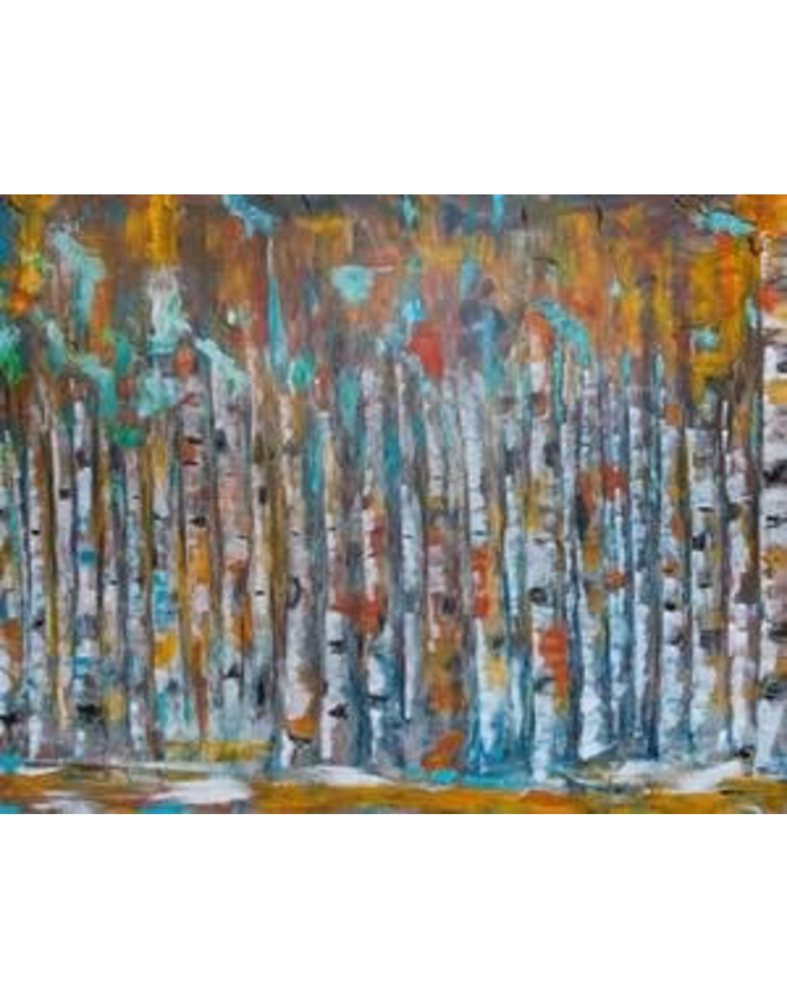 Katie Sevigny Modern Oil Birch Landscape   Katie Sevigny