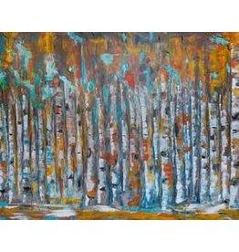 "Katie Sevigny Katie Sevigny ""Modern Oil Birch Landscape"""