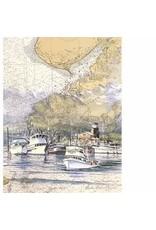 "Brenda Schwartz Brenda Schwartz-Yeager ""Homer Harbor"" art print"