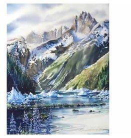 """Brenda Schwartz Brenda Schwartz-Yeager """"Ice Run"""" art print"""