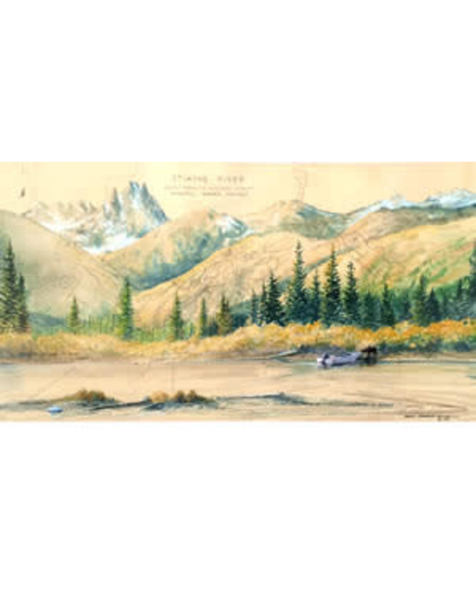 """Brenda Schwartz Brenda Schwartz-Yeager """"Stikine Boat Check"""" art print"""
