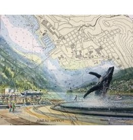 "Brenda Schwartz Brenda Schwartz-Yeager ""Juneau Harbor"" art print"