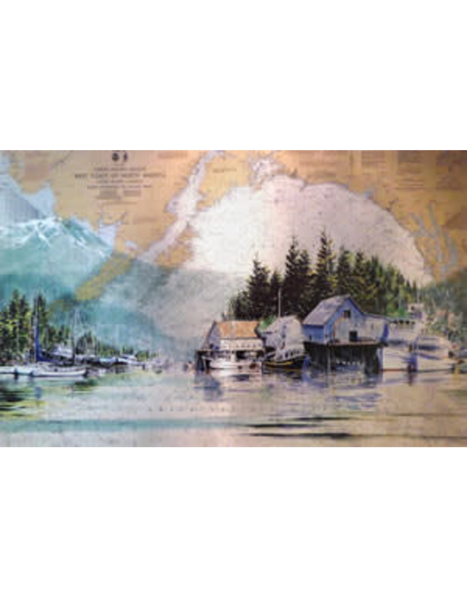 Brenda Schwartz Yeager Coastal Reflections (art card) | Brenda Schwartz-Yeager