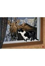 Byron Birdsall Cat and Moose | Byron Birdsall