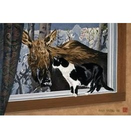 "Byron Birdsall Byron Birdsall ""Cat and Moose"" art print"