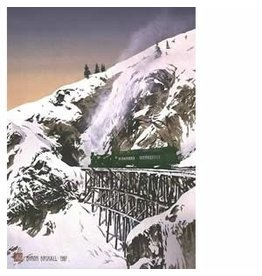 "Byron Birdsall Byron Birdsall ""White Pass Railroad"" art print"