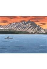 "Courtenay Birdsall-Clifford Courtenay Birdsall-Clifford ""Evening Paddle, Lake Bennett"" art print"