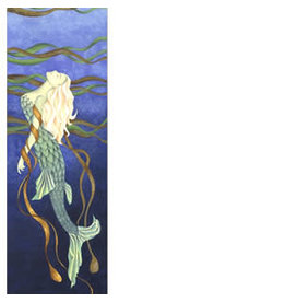 "Courtenay Birdsall-Clifford Courtenay Birdsall-Clifford ""Kelp Mermaid"" art print"
