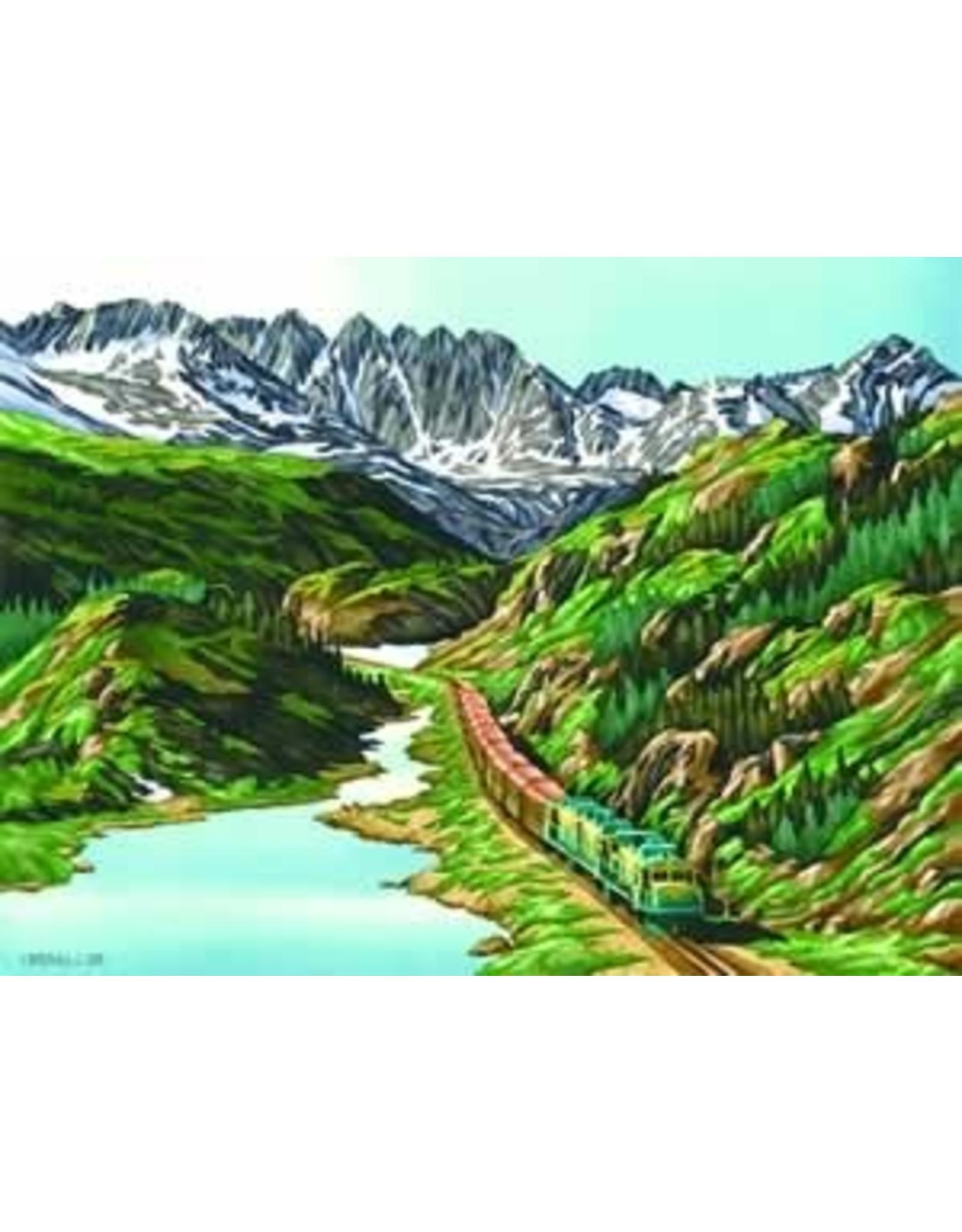 "Courtenay Birdsall-Clifford Courtenay Birdsall-Clifford ""On the Right Track"" art print"