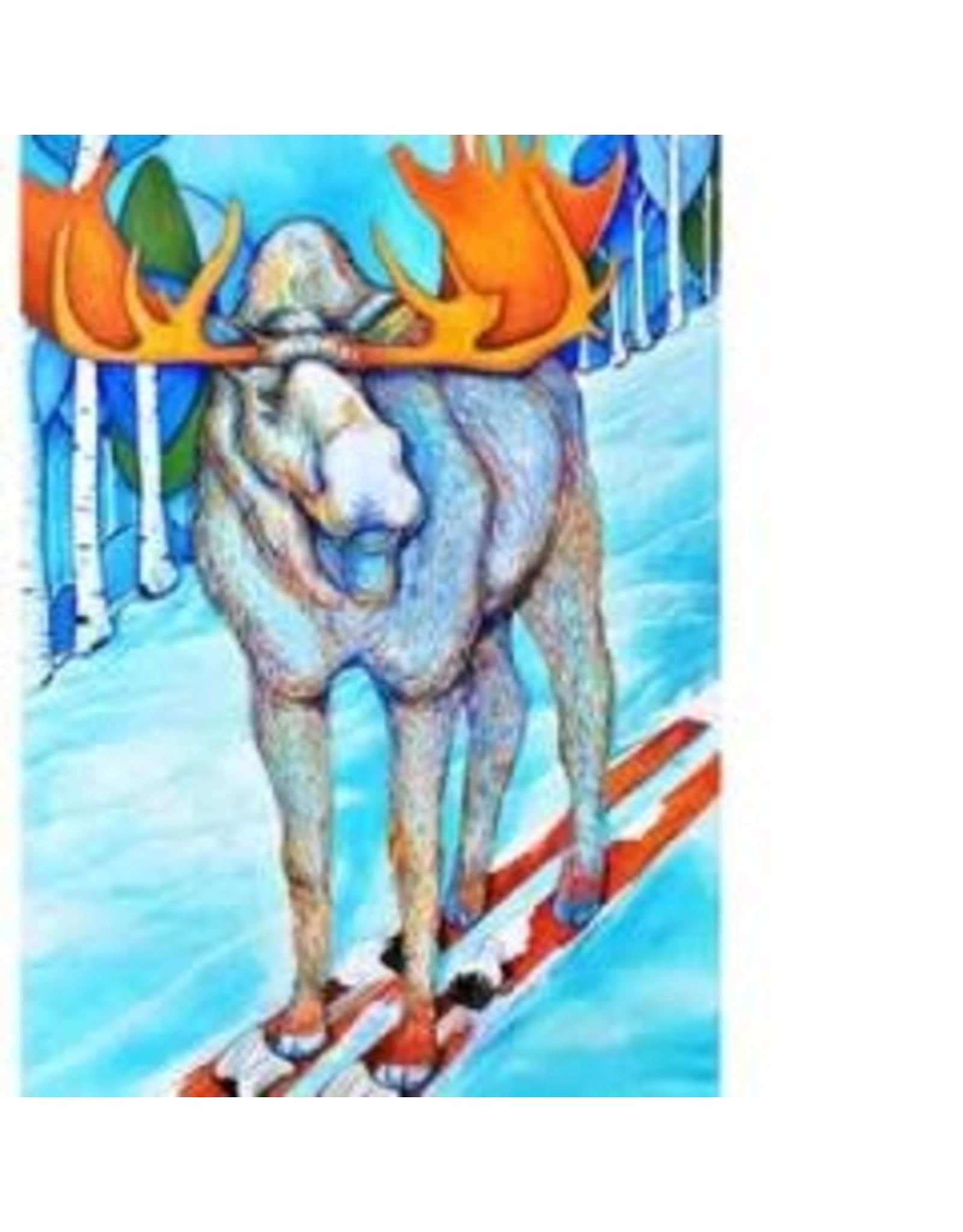 Katie Sevigny Skiing Moose | Katie Sevigny