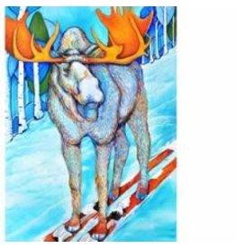 Katie Sevigny Skiing Moose