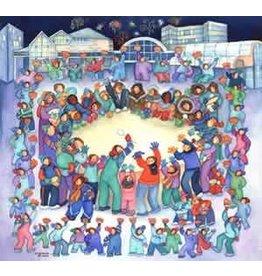 """Barbara Lavallee Barbara Lavallee """"As We Drum, We Are One"""" art print"""