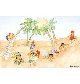 "Barbara Lavallee Barbara Lavallee ""Beach Babies"" art print"
