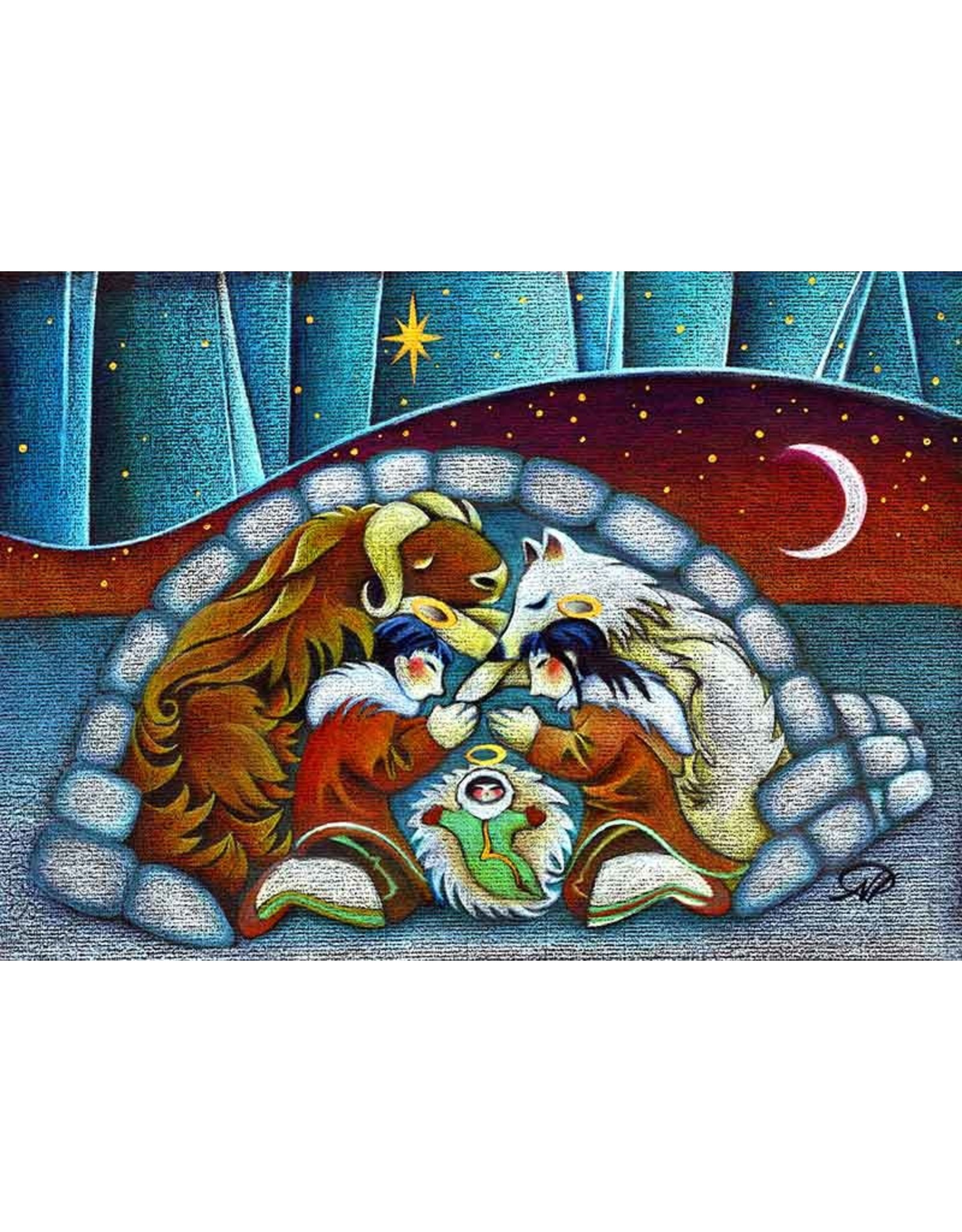"Nathalie Parenteau Nathalie Parenteau ""Arctic Holy Night"" Art Card"