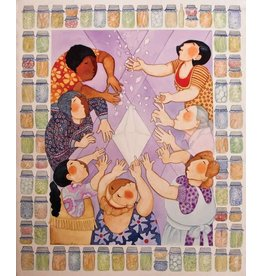 "Barbara Lavallee Barbara Lavallee ""Diamond Quilting Bee"" art print"