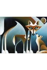 Nathalie Parenteau Coyote Family (art card) | Nathalie Parenteau