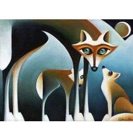 Nathalie Parenteau Coyote Family (art card)