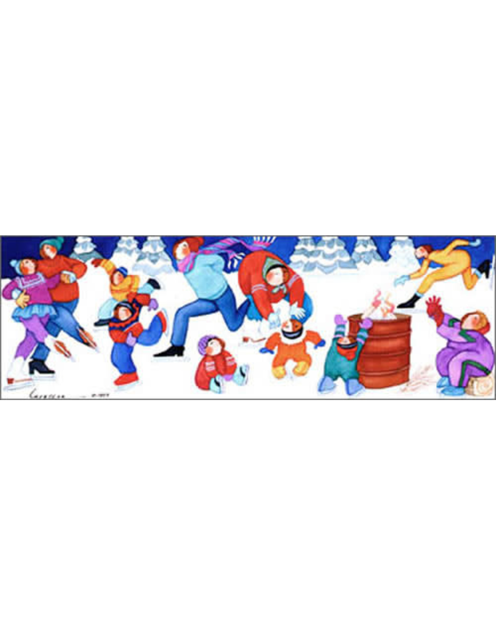 "Barbara Lavallee Barbara Lavallee ""Ice Escapades"" art print"