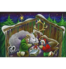 "Nathalie Parenteau Nathalie Parenteau ""Northern Nativity"" Art Card"