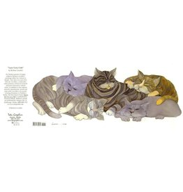 Barbara Lavallee Lazy Grey Cats (art card)