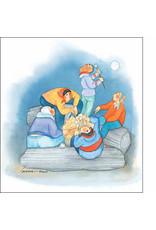 "Barbara Lavallee Barbara Lavallee ""Marshmallow Moon"" art print"
