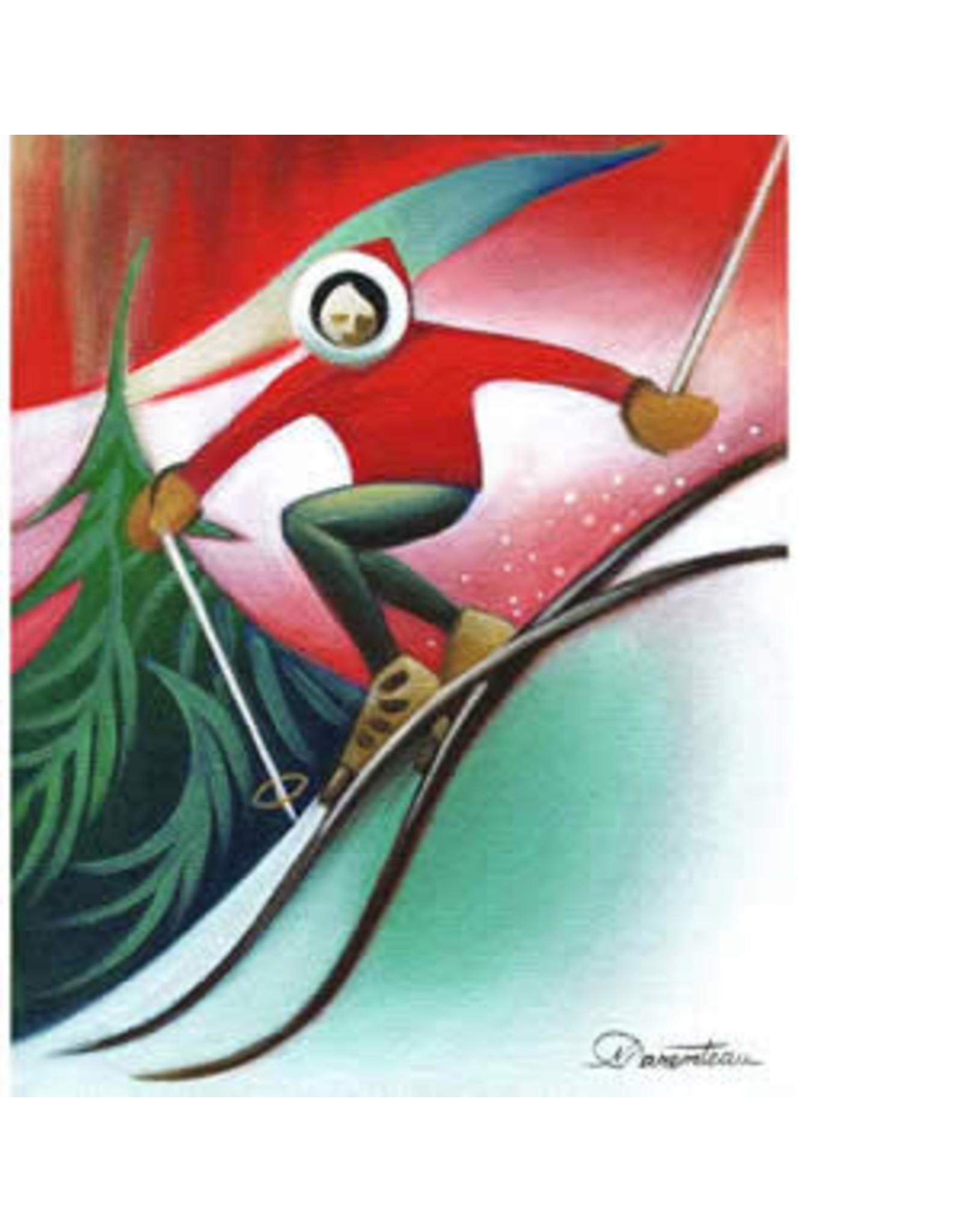 Nathalie Parenteau Retro Skier | Nathalie Parenteau