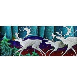 Nathalie Parenteau Rudolph the Red Nose Caribou (art card)