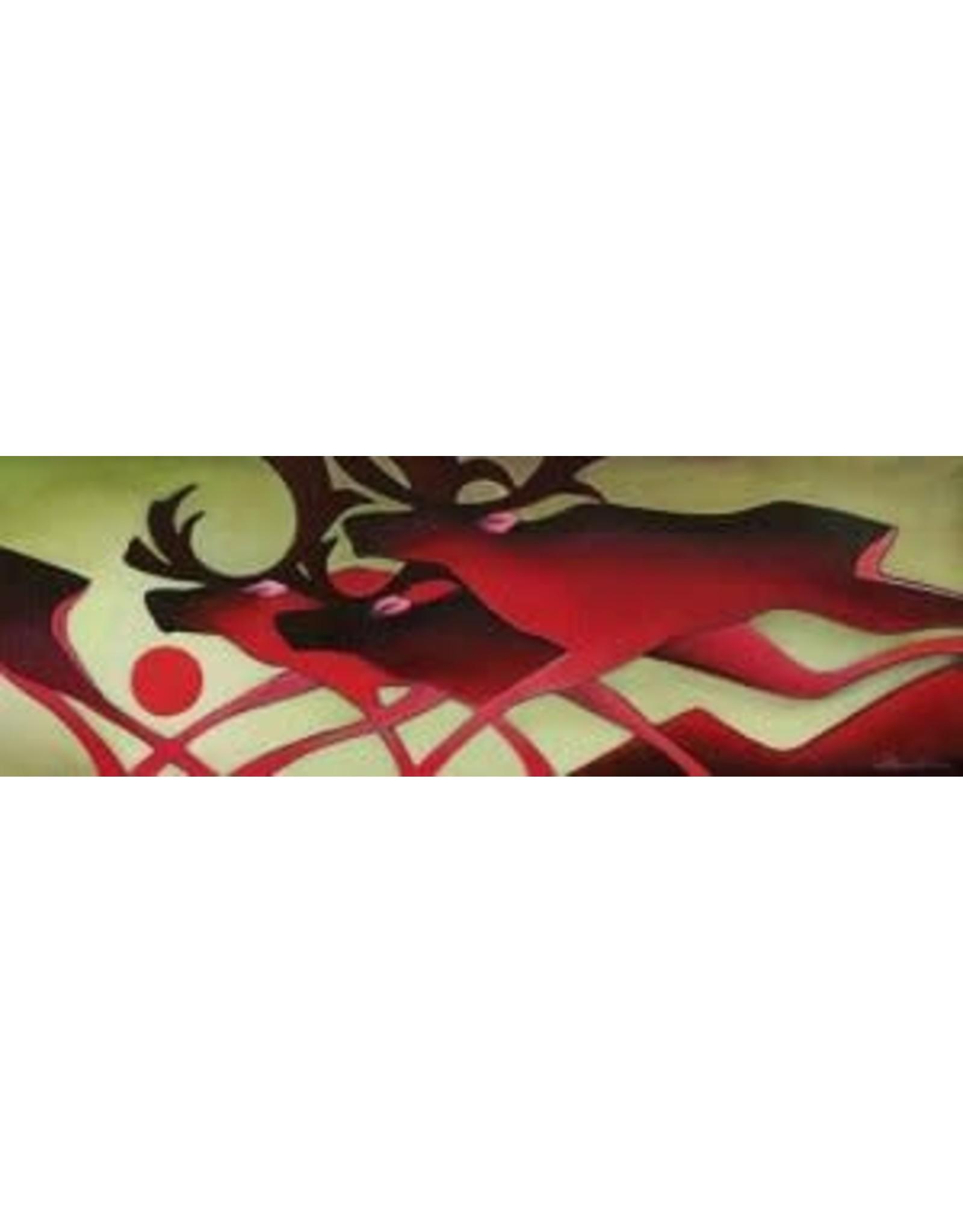 Nathalie Parenteau Running Caribous (art card) | Nathalie Parenteau