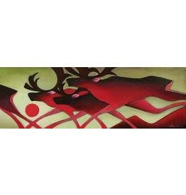 Nathalie Parenteau Running Caribous (art card)