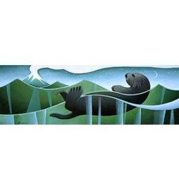 "Nathalie Parenteau Nathalie Parenteau ""Sea Otter and Volcano"" Art Card"