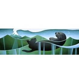 Nathalie Parenteau Sea Otter and Volcano (art card)