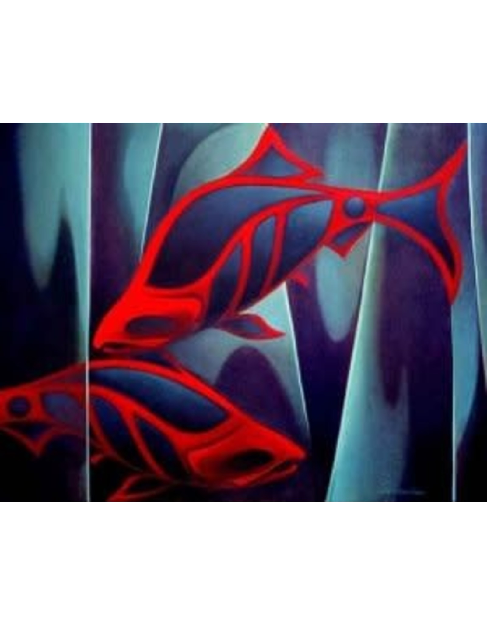 Nathalie Parenteau Silence and Salmon (art card) | Nathalie Parenteau