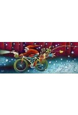 Nathalie Parenteau Snow Bike Santa (art card) | Nathalie Parenteau