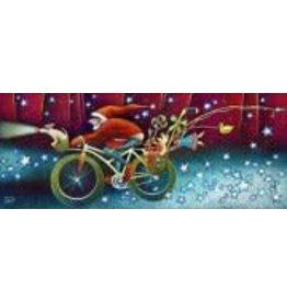 Nathalie Parenteau Snow Bike Santa (art card)