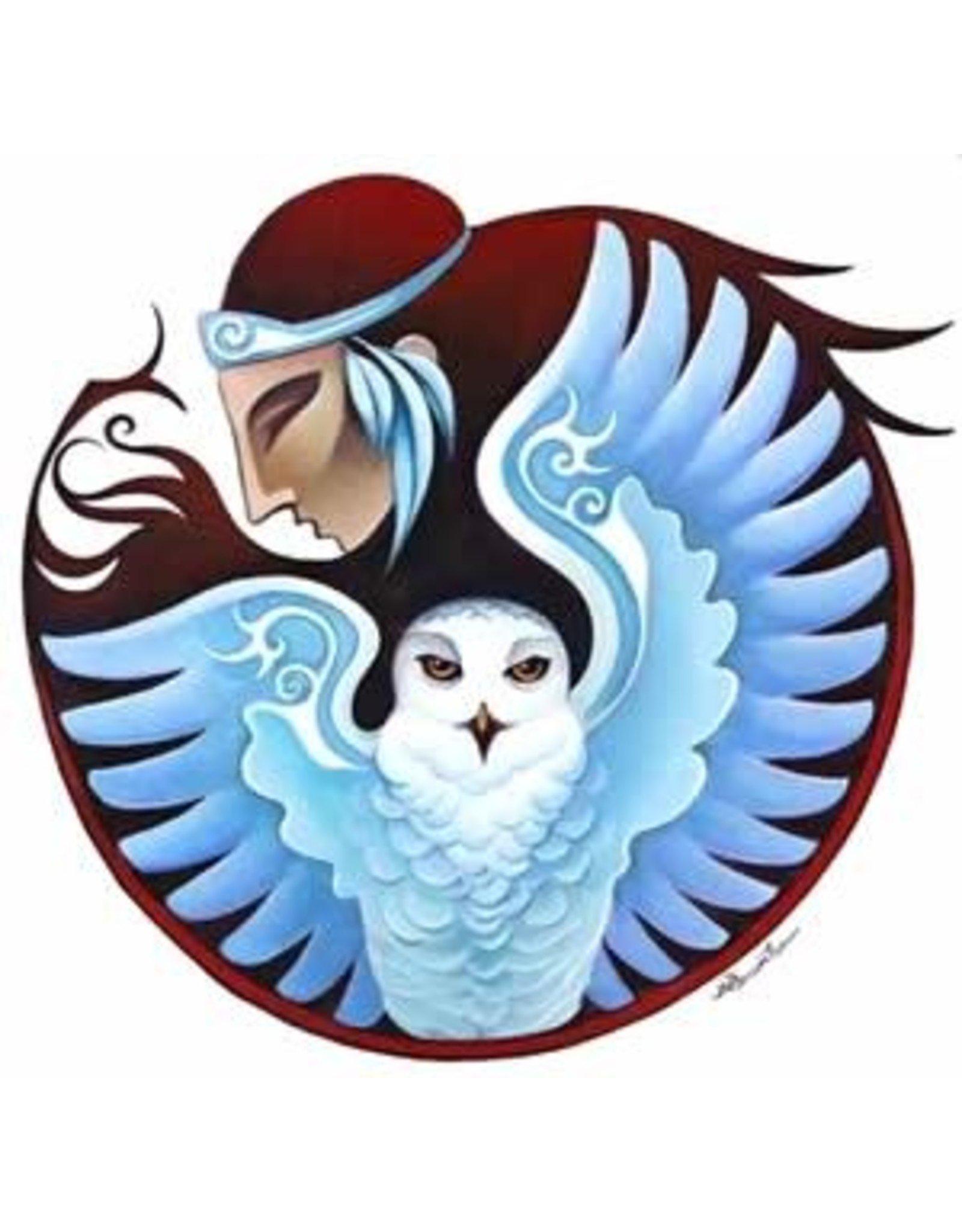 Nathalie Parenteau Snowy Owl Mandala   Nathalie Parenteau