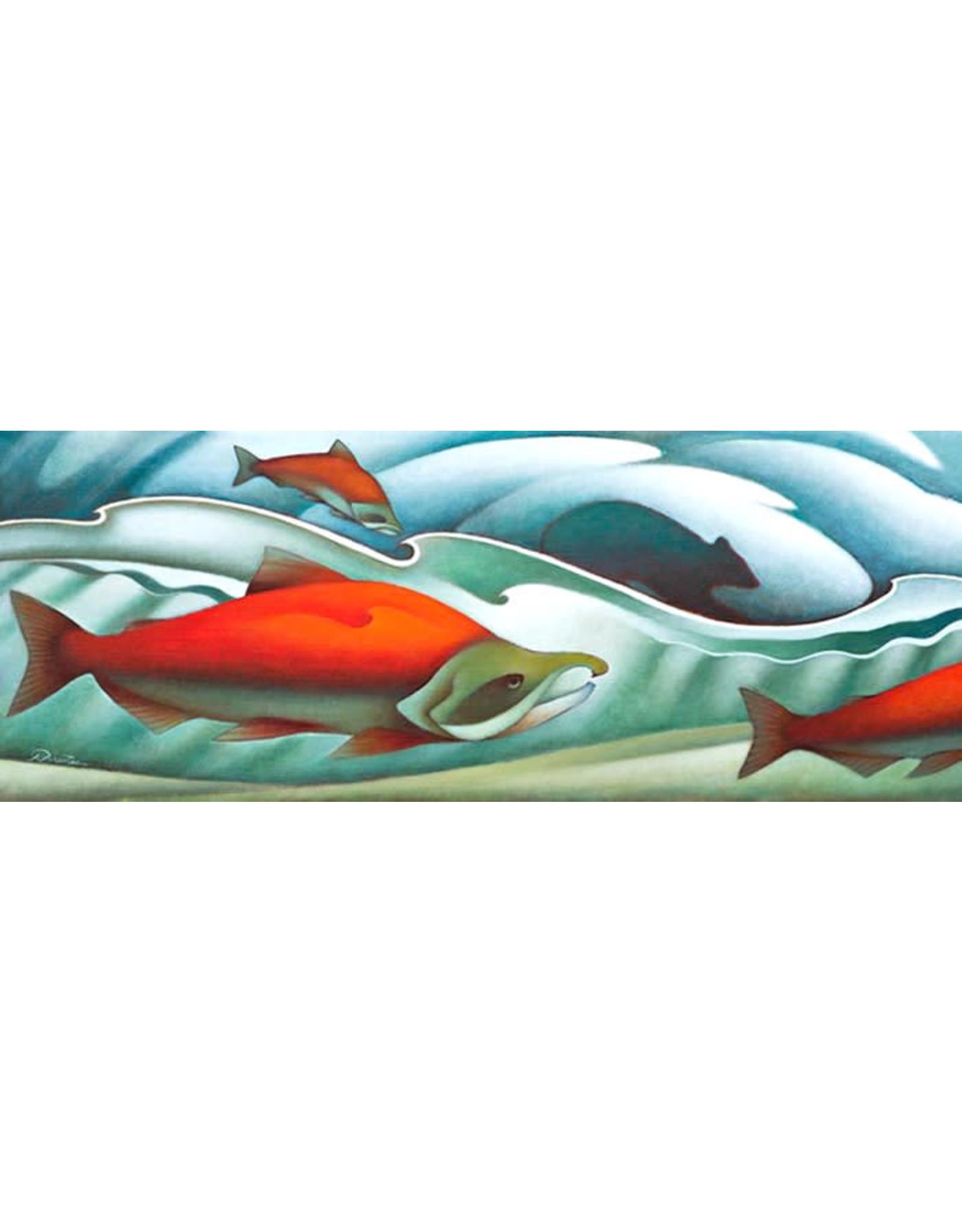 Nathalie Parenteau Song of the Salmon (art card) | Nathalie Parenteau