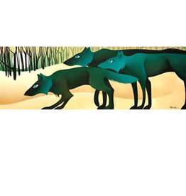 "Nathalie Parenteau Nathalie Parenteau ""Twilight Wolf Pack"" Art Card"