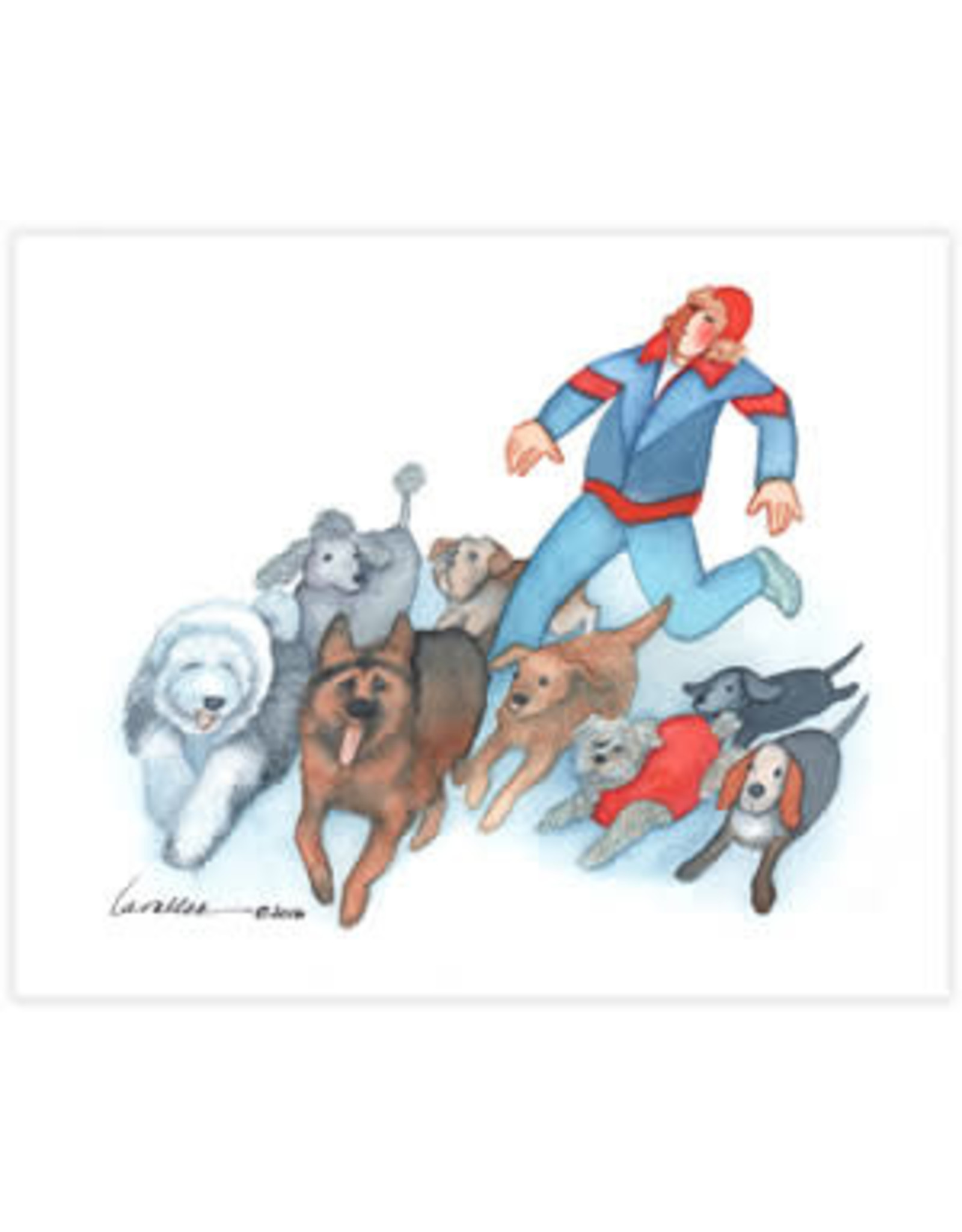 "Barbara Lavallee Barbara Lavallee ""Running with Dogs"" art print"