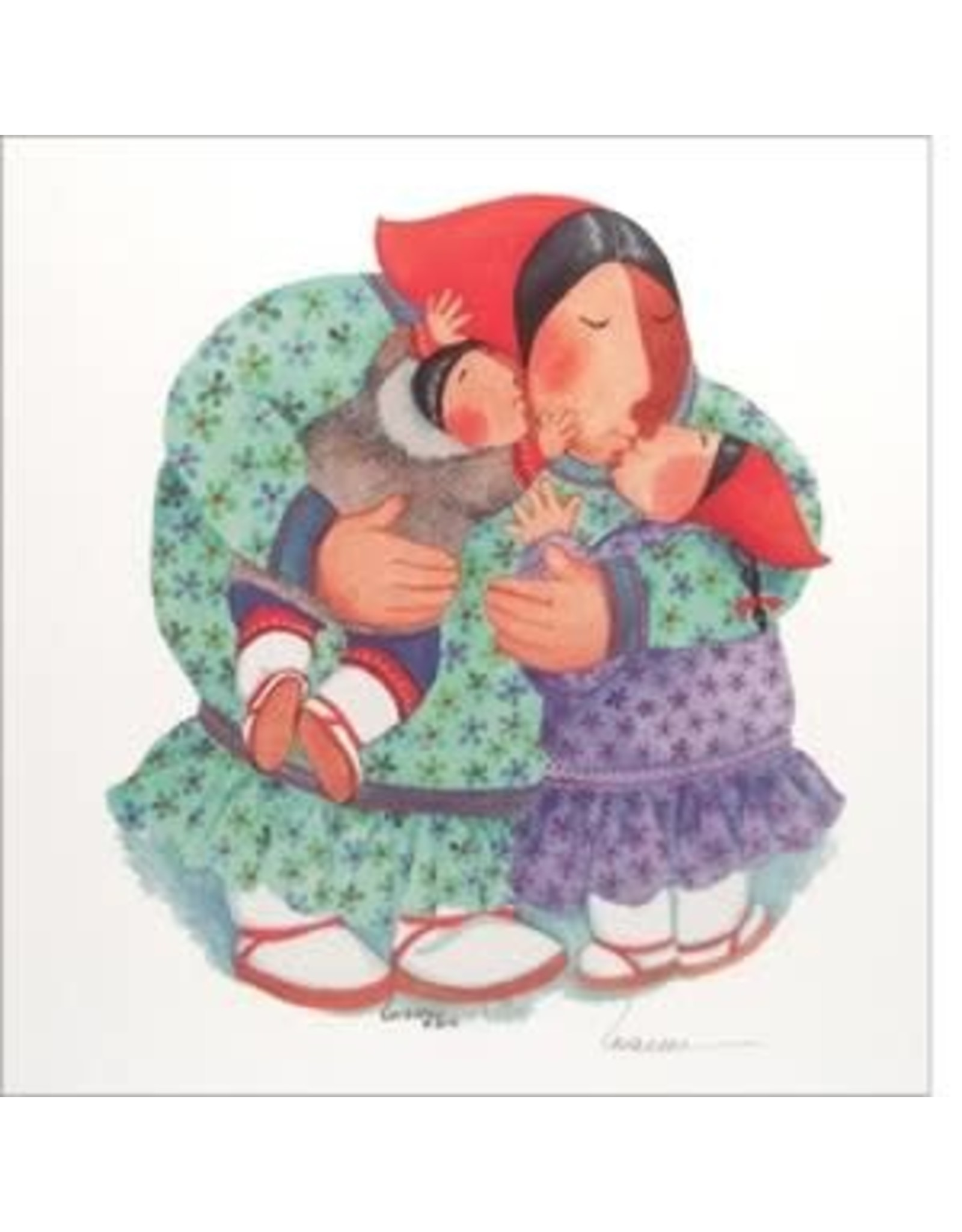 "Barbara Lavallee Barbara Lavallee ""Sharing Hugs"" art print"
