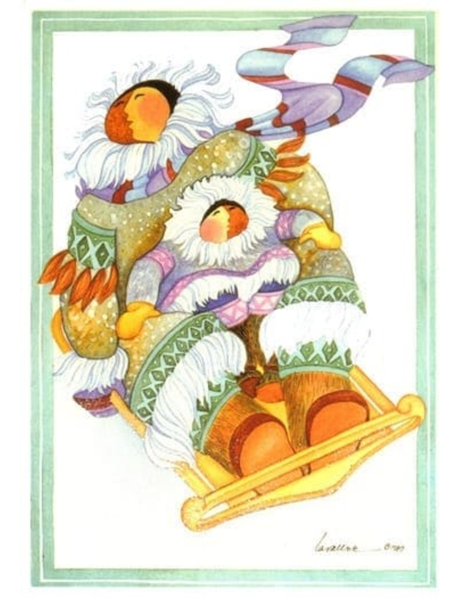 Barbara Lavallee Sledding (art card) | Barbara Lavallee
