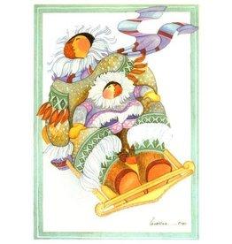 Barbara Lavallee Sledding (art card)
