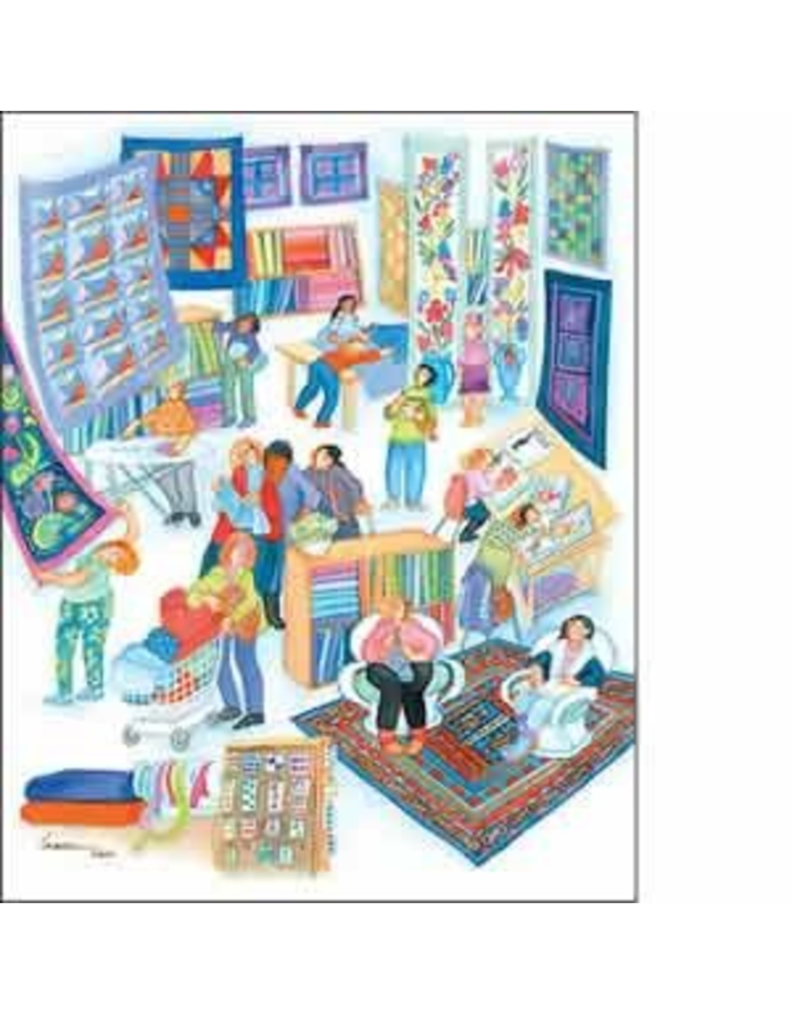 """Barbara Lavallee Barbara Lavallee """"The Quilt Shoppe"""" art print"""