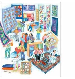 "Barbara Lavallee Barbara Lavallee ""The Quilt Shoppe"" art print"